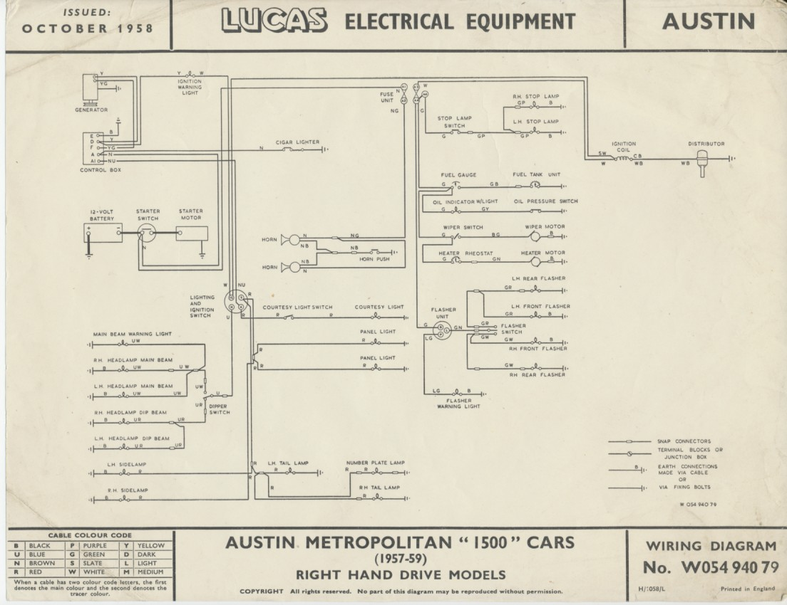 Lucas_Wiring_Diagram service literature 4 austin 10/4 wiring diagram at fashall.co